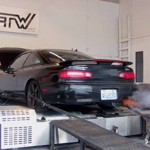 spitting flames on the dyno!